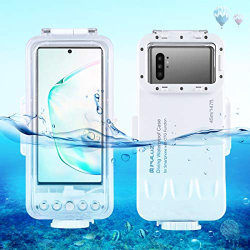 Professional Diving Phone Case for Galaxy All Android Smartphones, PULUZ 45m/147ft Waterproof Diving Housing Protective Cover Case for Surfing Swimming Snorkeling Underwater Photo Video Taking