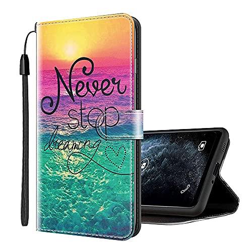 Sinyunron Klapphülle für Handy HTC U11 Life Hülle Leder Brieftasche Handytasche,Klapptasche Lederhülle Hüllen Hülle Schutzhülle Tasche Cover (Hülle-04B)
