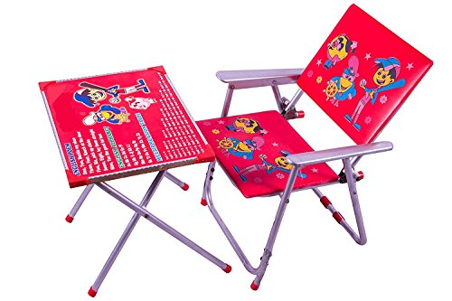 Avani MetroBuzz A-1 Kid's Iron Table Chair Set (Medium, Red)