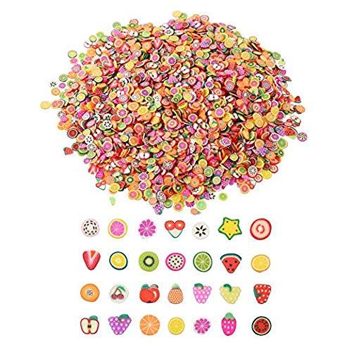 Frmarche 900 Stück getrocknete Früchte Nail Art Dekoration Obst Nagellack-Stil Werkzeug DIY für Schönheitszubehör Handyhülle