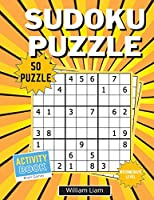 Intermediate level sudoku puzzle for adults 50 pages of brain games for adults (Activity Books)