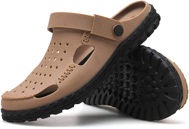 Dilunsizrf Coppie Pantofole Hole Sautope Trampolieri Seali Traspiranti Sautope da Spiaggia Pantofole da Uomo e da Donna,Marronee,42