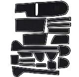 Takelablaze ホンダ 新型 N-BOX JF3/JF4 ポケットマット インテリア ラバーマット 車種専用設計 ドアポケットマット ゴムマット フロアマット コンソールマット ドレスアップパーツ 騒音防止 ノンスリップマット 滑り止めマット 19枚セット (ホワイト)