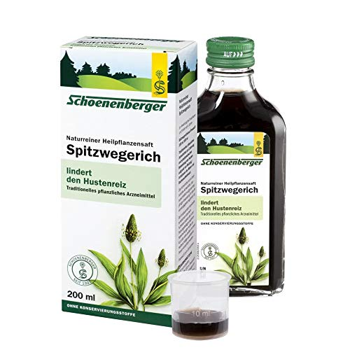 Schoenenberger Spitzwegerich, Naturreiner Heilpflanzensaft – zur Linderung von Husten - freiverkäufliches Arzneimittel, 200 ml