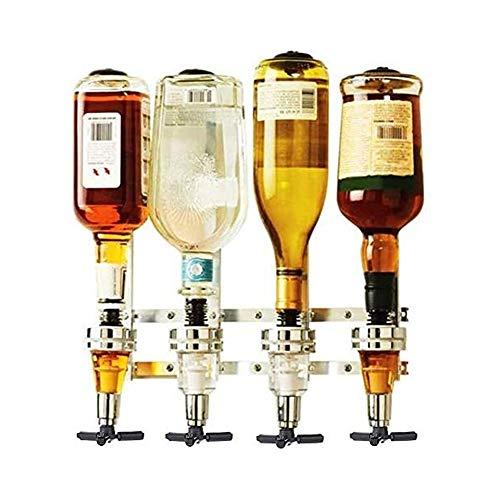Sits Disparo Dispensador de Vino Máquina montada en la Pared 4 Botella de Licor Barmero Butler Podering Pourer Home Bar Herramientas Dispensador de Bebidas Herramientas de Barra y Juego de Bebidas