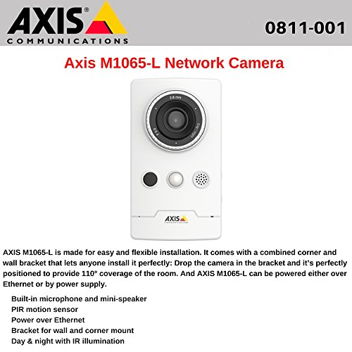Axis M1065-L Telecamera di sicurezza IP Interno Cubo Parete 1920 x 1080 Pixel