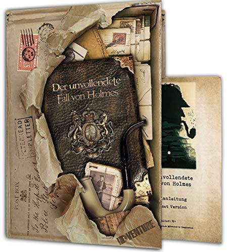 iDventure - Der unvollendete Fall von Holmes - Spannendes Escape Room Spiel [1–5 Spieler] - Detektiv Krimi Spiel für Erwachsene - Gesellschaftsspiele für Kinder ab 14 Jahren