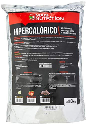 Mais Nutrition Mega Mass Hipercalorico, Sabor Morango, 3 kg