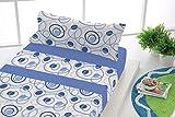 Sabanalia - juego sábanas franela dance (disponible en varios tamaños) - cama 90, azul