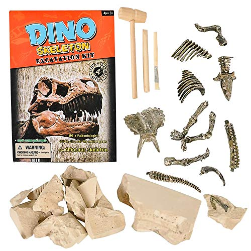 ArtCreativity Dinosaur Deluxe Fossil Excavation Kit, Interactive Dino Fossil Excavating Toys Set with Digging Tools, Great Birthday Gift Idea, Exciting Fun for Children, Contest Prize for Kids