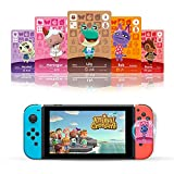24 Pcs ACNH NFC Card Series 1-4 Mini Game Cards for New Horizons with Crystal Case and Animal Bells Bag Switch/Switch Lite/Wii U… (ACNH 24 pcs)