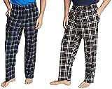Nautica - Conjunto de pantalones de pijama de forro polar suave para hombre, 2 unidades - Beige - Small
