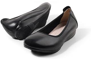 [UMIZORA] ローヒールパンプス 作業靴 黒 ナースシューズ ぺたんこ 低反発インソール入り 滑り止め 立ち仕事向け 通勤/リクルート/発表会 2.5cm/3.5cm/5cmヒール