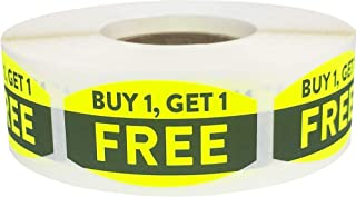 Buy 1 Get 1 Free Grocery Store Food Labels .75 x 1.375 Inch 500 Total Adhesive Stickers