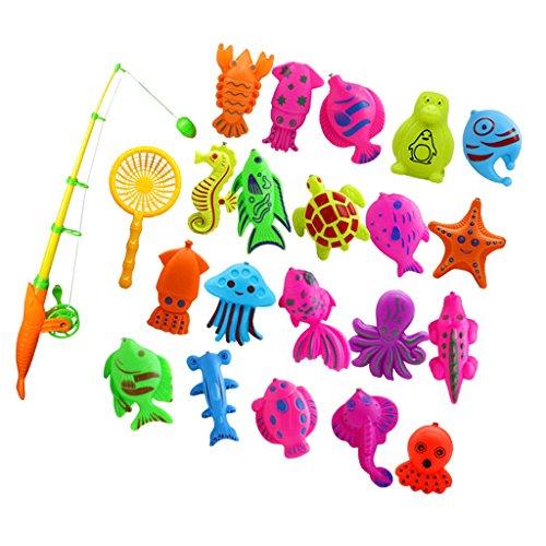 FITYLE Kinder Baby Fisch Angelspiel Badespielzeug Wasserspielzeug für Rollenspiele - 22 Stück