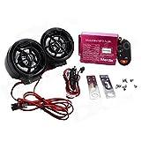 EASY4BUY® Motorcycle Led Audio Radio Bike Sound System Sd USB Mp3 12V Anti-Theft