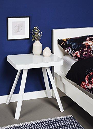 Jahnke Table Salon, Bois, Blanc, 53 x 50 x 40 cm