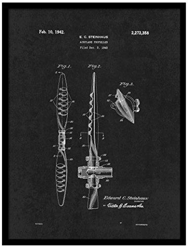 Spot Farbe Art patent150009bk-79bk 1942Flugzeug Propeller, 17,8x 22,9cm