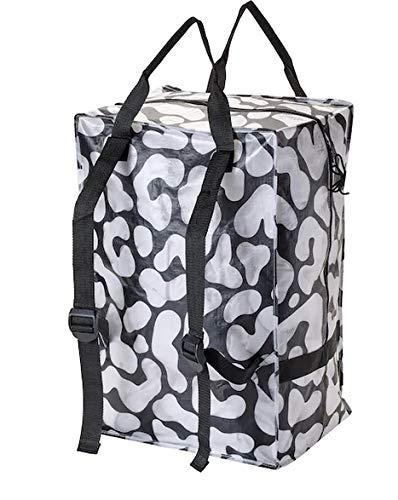 Unbekannt OMBYTE IKEA Tasche, schwarz, transparent, 72 l Transport Schulter Trage Frakta
