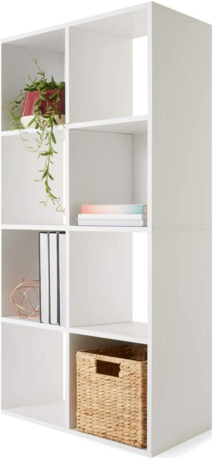 8 Cube Storage,Classroom Bookshelves and Bookcases Many Tier White Finish Industrial Modern Cubicles Storage Bookcase.