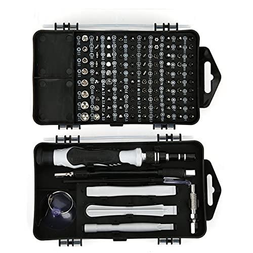 DAUERHAFT Juego de Destornilladores multifunción Juego de Destornilladores de reparación Antideslizante 117 en 1 para el hogar, para teléfono móvil