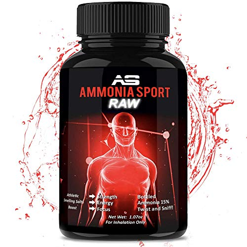 Athletic Smelling Salts - RAW - 100s of Uses Per Bottle - Strongest Smelling Salt for Athletes - Ammonia Inhalant Long Lasting Smelling Salt - Alert Supplement - Adrenaline Supplement - AmmoniaSport