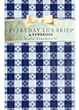 """Newbridge Bistro Tavern Check Vinyl Flannel Backed Tablecloth - Cafe Checkered Indoor/Outdoor Vinyl Picnic, BBQ and Dining Tablecloth - 60"""" x 84"""" Oval, Blue"""