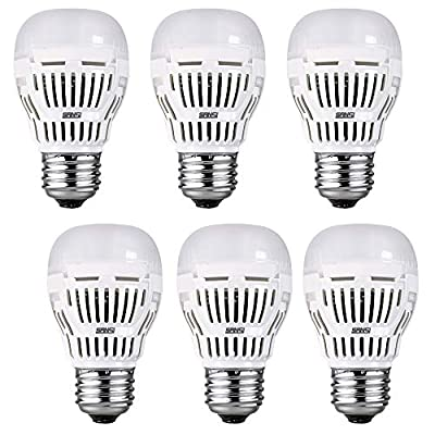 SANSI 8W 5000K Daylight 800lm A15 LED Bulbs 6-pack