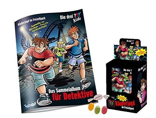 Blue Ocean Die 3 ??? DREI Fragezeichen Sticker (2020) - Stickeralbum + 1 x Display je 36 Tüten zusätzlich 1 x Fruchtmix Sticker-und-co Bonbon
