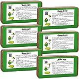 Humusziegel - 50 L Tierra de Coco para Plantas - 6 x 650g - Sustrato de Fibra de Coco Prensada para Macetas - Natural y Sin Turba - Ladrillo de Coco - Tierra para Plantas Interior/Exterior