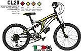 Bici Misura 20 Bambino MTB Full Suspension 6V Colorado Art. CL20...