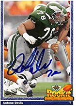 Antone Davis autographed Football Card (Philadelphia Eagles) 1991 Upper Deck Rookie Force #643 - NFL Autographed Football Cards