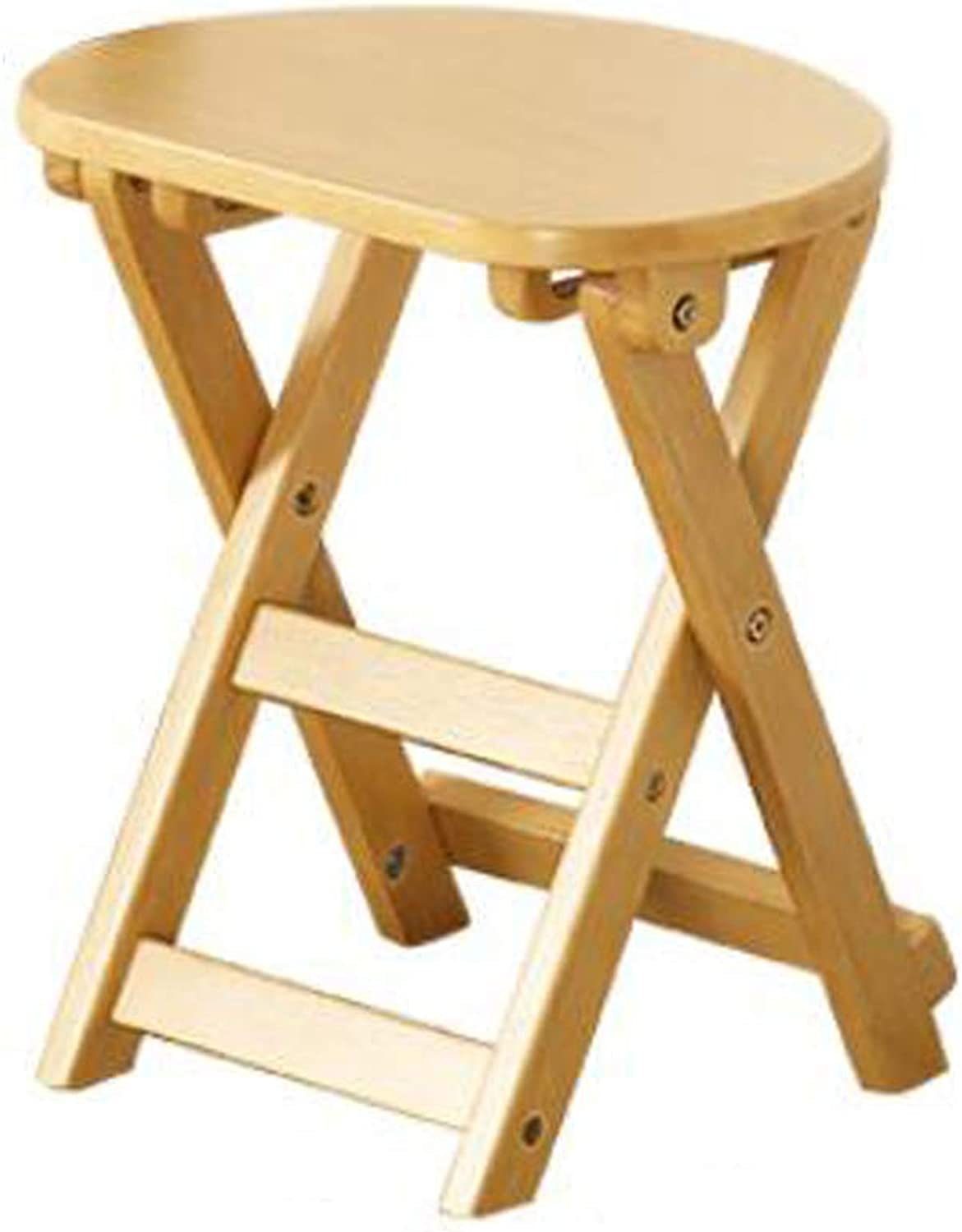 SYFO Household Solid Wood Stool, Simple Folding Stool, Fashion shoes Bench, Creative Folding Stool Stool (color   Yellow)