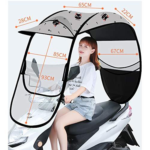 CCHM Cubierta de Lluvia para sombrilla eléctrica de Bicicleta, Paraguas de Motor...