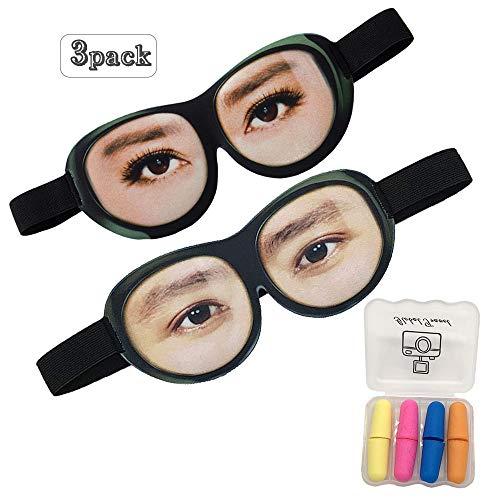 Schlafen Auge Masken für Frauen &Männer, 3D Funny Comfort Ultraweiche Premuim Augenmaske zum Schlafen/Reisen, Ausblocken Licht 100% Shade Cover, Einstellbare Seidenschaum Blindfild
