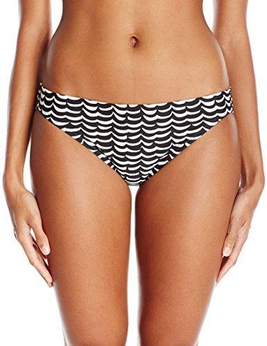 COCO RAVE Junior's Classic Cut Bikini Bottom Swimsuit, Sorority Girl Jet Black, X-Large