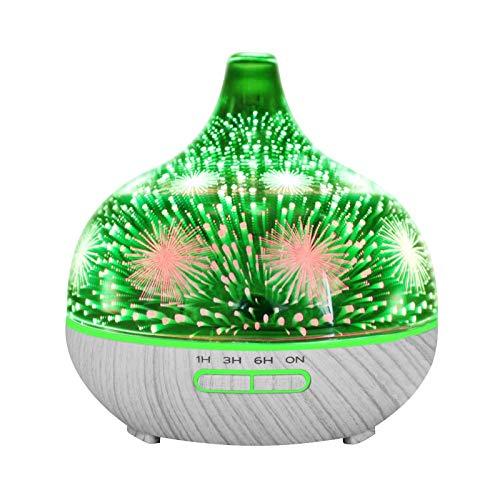 Luftbefeuchter bunter Aromadiffusor Luftbefeuchter Raum befeuchter für Schlafzimmer Räume Büroraum Büro Auto 3D Nachtlicht U Ultraschall Aroma Diffusor Ätherisches Öl Luftbefeuchter Aromatherapie