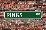 unknow Anillos, anillas, anillas, ventilador de anillas, participantes de anillas, regalo de anillas, gimnasia artística, regalo de gimnasia, señal de calle personalizada, señal de metal de calidad