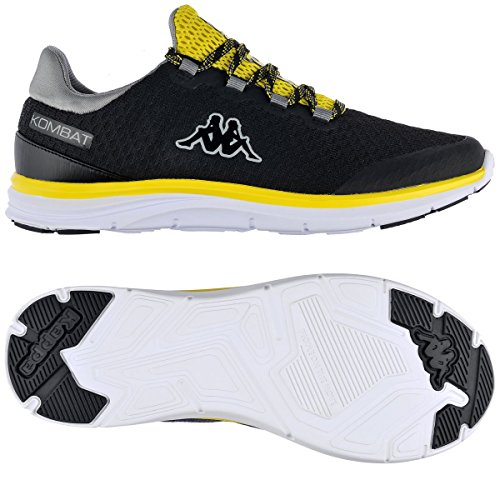 Robe di Kappa - Zapatillas de Nordic Walking de Sintético para Hombre Negro Black/Yellow Fluo Negro Size: 44 EU