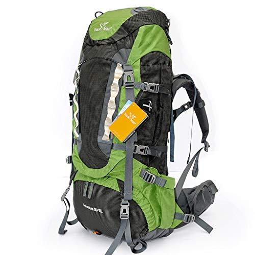 LLRDIAN Bolsa de Alpinismo 65l Hombros Hombres y Mujeres Bolsa al Aire Libre Bolsa de Viaje de Gran Capacidad Tienda de campaña Bolsa de Viaje (Color : Green, Size : 65L)