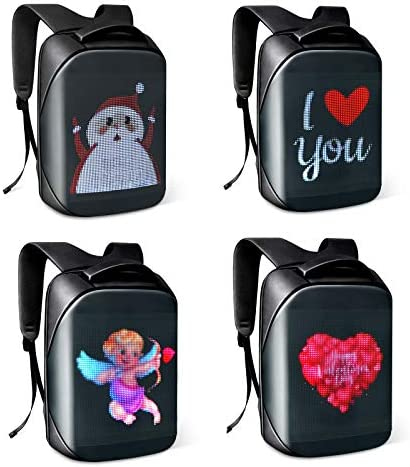 Tesinll DIY Fashion Backpack LED Full Color Screen Travel Laptop Backpack For Adult and College product image