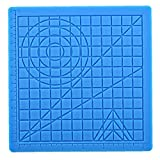 EElabper 3D Impresión De Silicona Pintura Junta Dibujo Mat Mat 3D Pluma Pluma 3D Plantillas Libro 3D Lápiz De Dibujo Herramientas 2pcs Azules