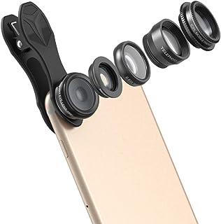 L.J.JZDY telefonlins mobiltelefonlins med klämma yttre fisköga vidvinkel makro förbättrad polarisering fem-i-ettbelagt opt...