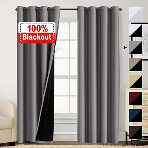 Flamingo P 100% Blackout Curtains for Bedroom, Thermal...