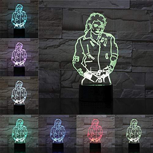 Michael 3D LED Lampe Mode Stil Acryl Platte Bunte USB Trockenbatterie Lade Wohnkultur Geschenke Für Freund Kinder Familie