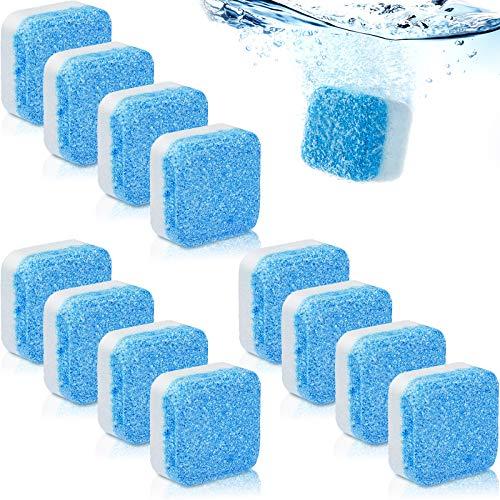 12 Limpiadores Sólidos de Lavadora Limpiador de Tabletas Efervescentes Removedor de Limpieza Profunda con Descontaminación Triple para Herramientas Lavadora Baño Habitación Cocina