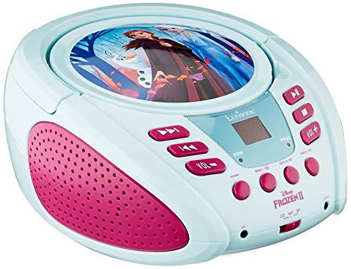 Lexibook Disney Frozen Die Eiskönigin Elsa  Boombox CD-Player, AUX-Eingangsbuchse, AC-Betrieb oder Batterie, Blau/Weiβ , RCD108FZ_10