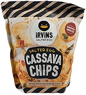 IRVINS Salted Egg Cassava Chips Crisps 105g