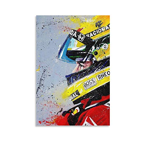 Ayrton Senna 01 Poster Decorative Painting Canvas Wall Art Living Room Posters Bedroom Painting 18×12inch(45×30cm)