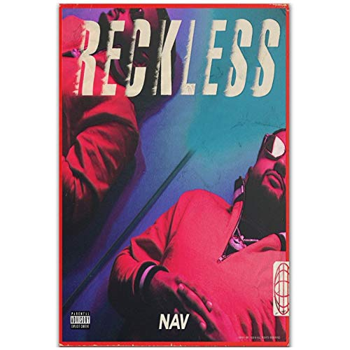 wzgsffs Nav Reckless 2018 Rap Hip Hop Music Group Portada del Álbum Póster E Impresiones Arte De Pared Impresión En Lienzo para Sala De Estar-20X28 Pulgadas X 1 Sin Marco